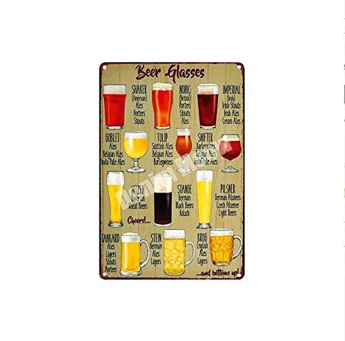 shovv Placa de Cerveza Helada Stella Artois Cerveza de Mantequilla Shabby Chic Metal Cartel de Chapa Pub Bar Decoración Vasos de Cerveza Cartel de Hierro