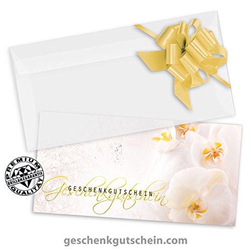 10 Premium Geschenkgutscheine Gutscheine zum Falten + 10 Kuverts + 10 Schleifen für Fußpflege, Pediküre, Nagelstudio FU223 pos-hauer
