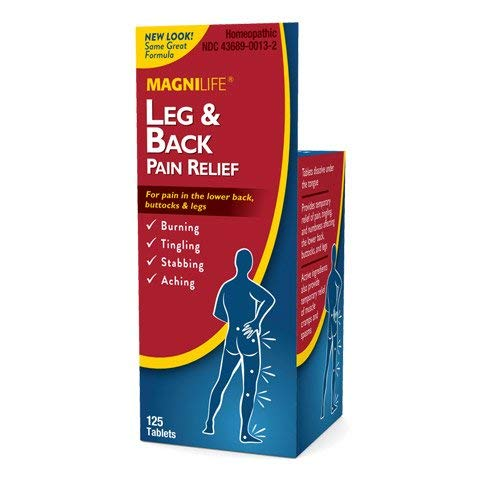 MagniLife Leg & Back Pain Relief, Fast-Acting Sciatica Pain Relief, Naturally Soothe Burning, Tingling and Stabbing Pains - 125 Tablets