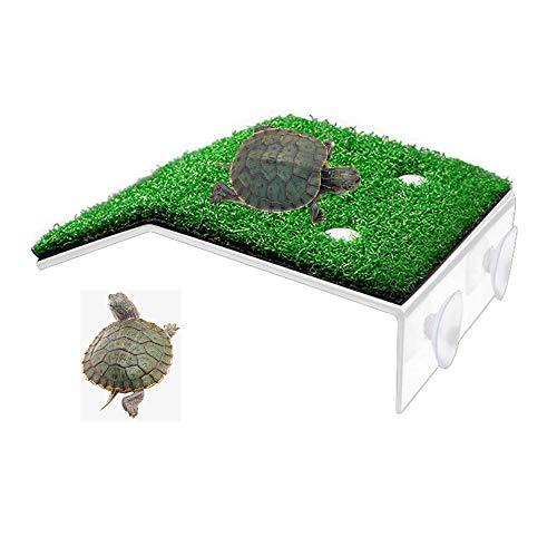 "HFBlins Small Turtle Basking Platform, Tortoise Ramp Reptile Ladder Resting Terrace Fish Tank Aquarium Turtle Dock Floating Décor for Small Reptile Frog Terrapin (7.87"" X 4.72"" X 1.57"")"