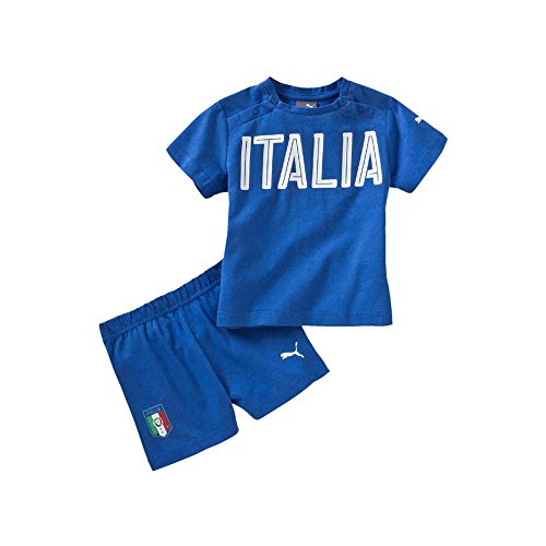 PUMA FIGC Italia Baby Set Completo Calcio, Team Power Blue, 92