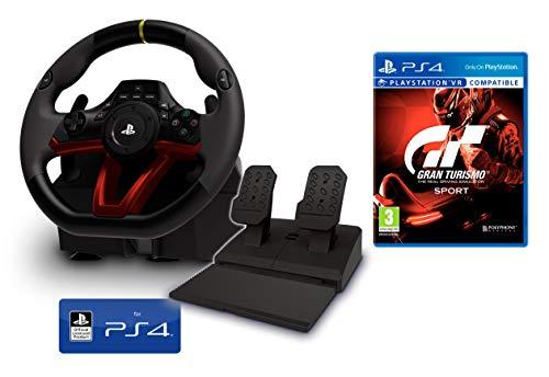 Volant et pédales PS4 [Nouveau modèle] Sans fil Wireless officiel Sony PS4 sous licence + Gran Turismo PS4 GT Sport
