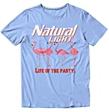 Natural Light Life of The Party T-Shirt Large Blue