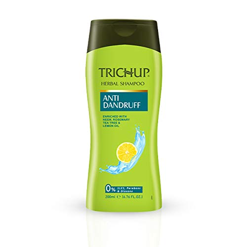 Trichup Anti- Dandruff Herbal Shampoo - Enriched with Neem, Rosemary & Tea Tree Oil - Protect Scalp Skin from Causes of Dandruff (200ml)
