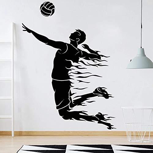 Etiqueta engomada de la pared del voleibol Gym Art Sports Vinyl Wall Gym