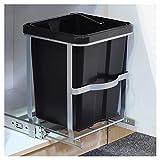 Einbau Teleskop Mülleimer 14 Liter herausnehmbarer Eimer mit Griff • Abfalleimer Mülltonne Mülltrennung Müllkorb Müllbehälter Küche