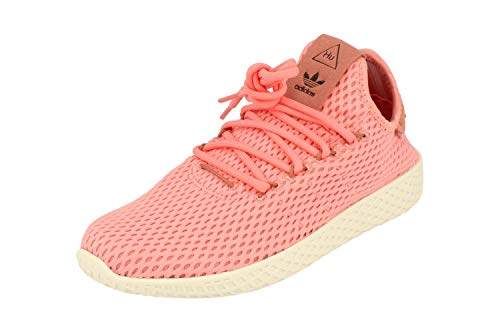 adidas Originals PW Tennis HU Mens Trainers Sneakers (UK 6 US 6.5 EU 39 1/3, Pink White BY8715)