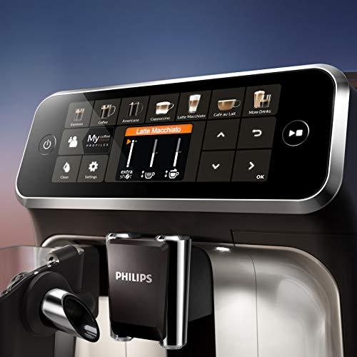 Philips EP5447/90 Serie 5400 Cafetera superautomática, 12 variedades de café, Tecnología LatteGo, Molinillo cerámico, Pantalla táctil