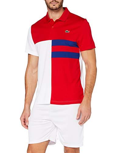 Lacoste Sport Dh2025 Polo, Rouge/Blanc-COSMIQUE-Noir, 3XL Uomo