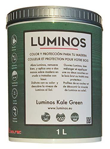 Luminos LUM1106- KALE GREEN - Wasserbasierte Holzschutzlasur Außen BIO - Grün Kale 1L
