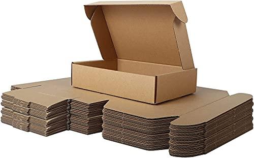 LY-YY Embalaje De Almacenamiento De Cartón Fuerte Cajas De Cartón Resistentes Embalaje Casa De Envío Caja De Pared Doble Móvil (Color : 100 Pack, Size : 27x16.5x5cm)