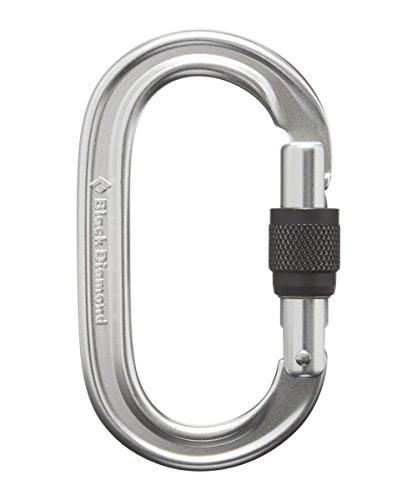 Black Diamond Oval Keylock Screwgate Biner Carabiner One Size Polished