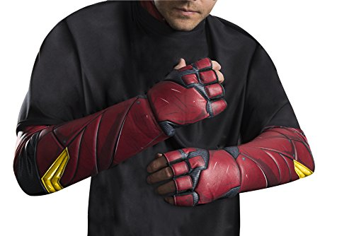 Rubie's Men's Justice League Flash Gloves, As Shown, One Size