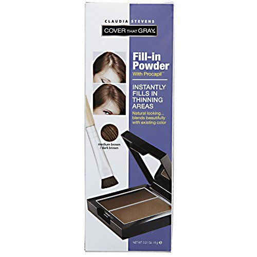 Claudia Stevens Cover That Gray Medium Brown Fill-In Powder by Claudia Stevens
