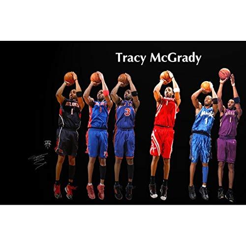 Ophihdlhd Holzpuzzle für Erwachsene, NBA Famous Star Alphabet Division Boy Ophihdlhd