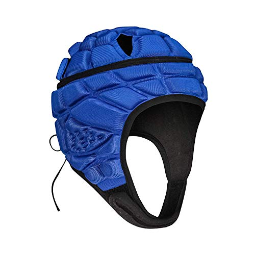 TUOY Youth Soft Padded Rugby Headguard - Blue (S (3-8 Age))