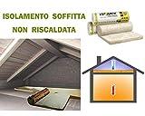 Lana mineral para aislamiento térmico de desván, techo, ático, etc., 15,60 m²