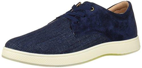 Florsheim Men's Edge 3 Eye Elastic Lace Slip On Oxford Sneaker, Navy, 12 Medium
