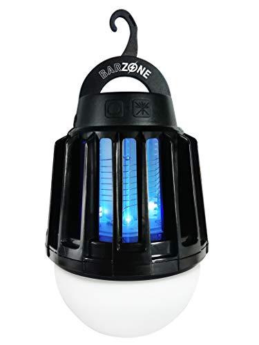Compo 2-in-1 UV-Mückenlampe, LED-Licht in DREI Helligkeitsstufen, Wasserdicht, Inkl. USB-Kabel, Schwarz