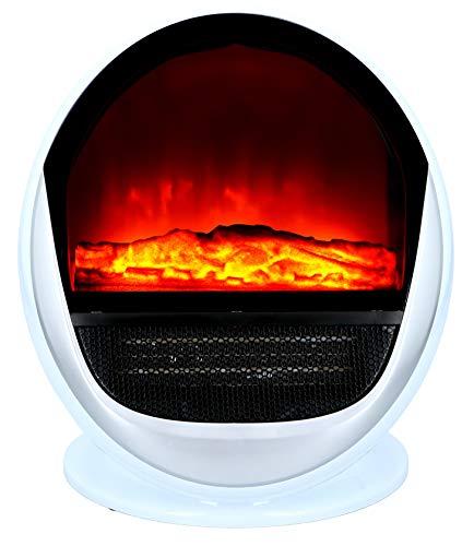 Classic Fire Chimenea eléctrica – Chimenea eléctrica – Independiente con efecto fuego – 750 – 1500 W – Color blanco