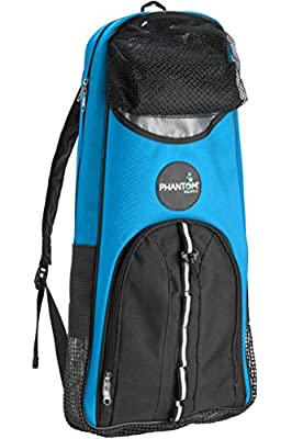Phantom Aquatics Snorkeling Backpack Diving Gear Bag with Shoulder Strap - Fits Fins, Snorkel, Mask and More - Ideal Travel Bag for Scuba Diving, Snorkeling Gear Equipment and Water Sports