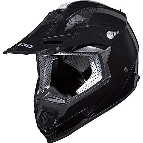 Nexo Motocross Helm Motorradhelm Cross Helm Enduro Helm MX-Line Crosshelm II schwarz M, Unisex, Cross/Offroad, Ganzjährig, Thermoplast