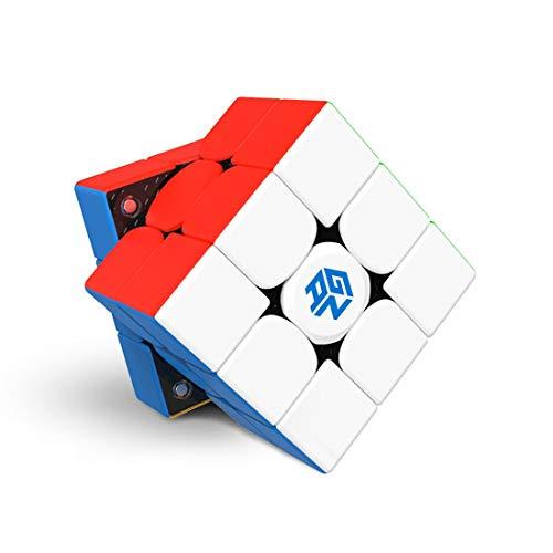 GAN 356 XS, 3x3 Zauberwürfel Geschwindigkeit Magnetwürfel Gan356XS Magischer Würfel Spielzeug Puzzle Knobelspiel (Aufkleberloser)