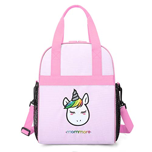 mommore Portable Unicorn Lunch Bag for Kids Insulated Lunch Tote Bag, Purple