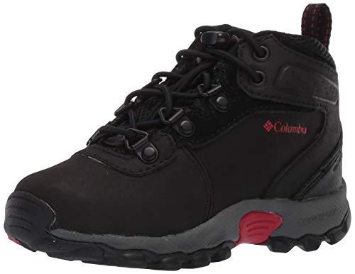 Columbia Childrens Newton Ridge, Chaussures de Randonnée Hautes Mixte Enfant, Noir (Black, Mountain Red 010), 30 EU
