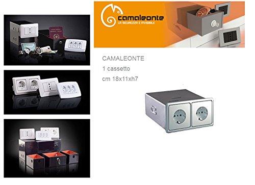 Cassaforte/Cassetta di sicurezza a scomparsa/mimetica finta presa elettrica Mod. 1 Cassetto - CAMALEONTE