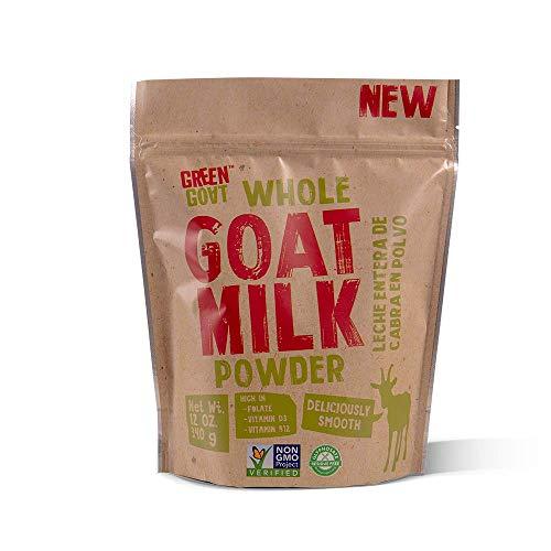 GREEN GOAT Whole Goat Milk Powder, Non GMO, Gluten Free, 12 OZ