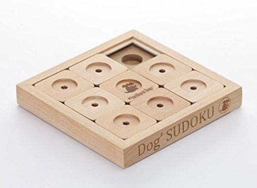 My Intelligent Dogs Interaktives Hundespielzeug aus Holz Dog' Sudoku Profi, S