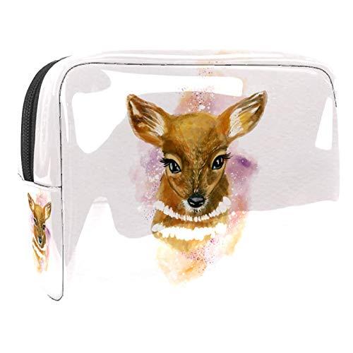 Kit de Maquillaje Neceser Ciervo Acuarela Make Up Bolso de Cosméticos Portable...