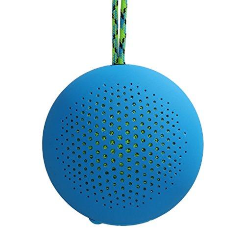 Boompods rokpod 3W Azul - Altavoces portátiles (3,2 cm, 3 W, 200-10000 Hz, 4 Ω, 60 dB, Inalámbrico)