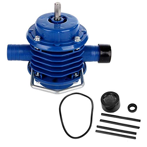 ZLININ Hand Electric Drill Water Pump, Pratical Mini Self-Priming Engineering Plastics Hand Electric Drill Water Pump Replacement Accessories for Home Garden