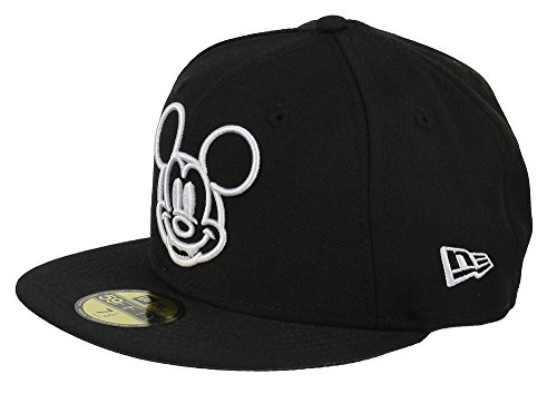 New Era Disney 59fifty Basecap Mickey Mouse White Face Black - 6 7/8-55cm