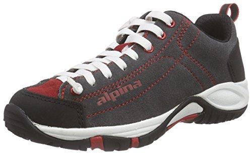 Alpina Unisex-Erwachsene 680341 Trekking- & Wanderhalbschuhe, Rot (gray/red), 45