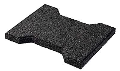 """Playsafer Rubber ¾"""" Interlocking Safety Paver Tiles for Decks, Patios, Walkways and Gardens 7.8"""" X 6.3"""" - 50 Tiles - 15 Sq. Ft. (Black)"""