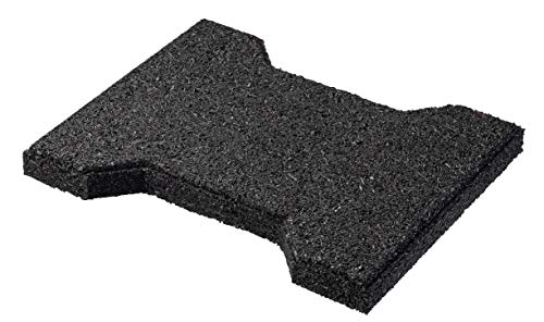 """Playsafer Rubber ¾"""" Interlocking Safety Paver Tiles for Decks, Patios, Walkways and Gardens 7.8' X 6.3' - 50 Tiles - 15 Sq. Ft. (Black)"""