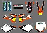 Motocross Moto Equipo Gráficos Adhesivos Pegatinas Deco fijado for el KTM 50 SX SX50 50CC Mini Aventura MTK50 2002 2003 2004 2005 2006 2007 2008 (Color : Style2)