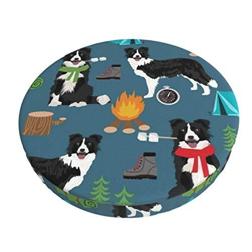 Stretch Stuhlhussen Bezug Border Collie Camping Hund Voller Druck Husse für Stuhl rutschfest Bar Chair Cover 13 in