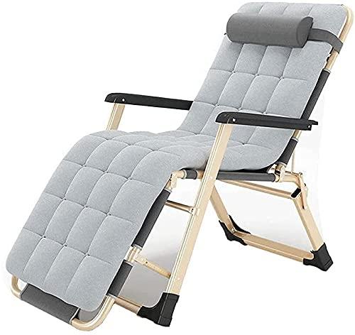 Slscyx 2021 Lunch Breat Sedie Sedia Sun Poltrona Zero Gravity Reclinabile Regolabile Poggiatesta Rimovibile Poggiatesta Piscina (Colore : Leisure Chair+Pearl Cotton Pad)