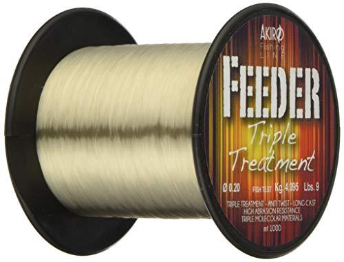 Akiro Unisex_Adult Feeder Tri - Band Fishing Line, Beige Fluo, 0.26 mm