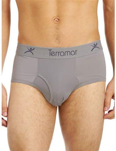 Terramar Microcool Mesh, Slim Fit Briefs Underwear (Pack of 1), Storm, Large/ 36-38