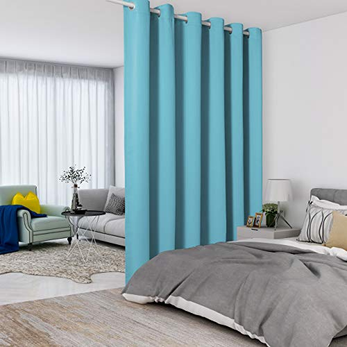 Lordtex Raumteiler-Vorhänge – absolute Privatsphäre, Wand-Raumteiler, schalldicht, breit, Verdunkelungsvorhang für Wohnzimmer, Schlafzimmer, Terrasse, Schiebetür, 1 Panel, 4,5 m breit x 2,7 m hoch