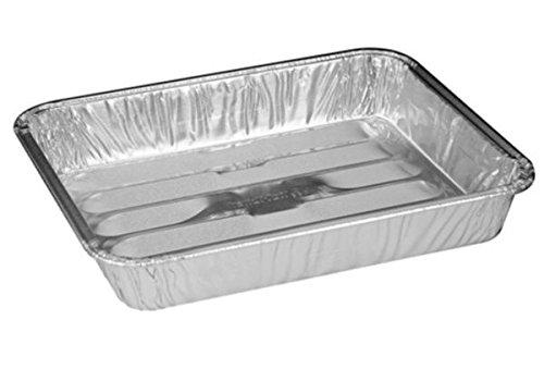 "Handi-Foil 8"" x 7"" x1.3"" Small Mini Toaster Oven Broiler Baking Pan (pack of 10)"