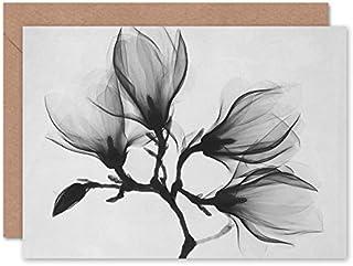 Fine Art Prints CLRK0048 Magnolia Branch Xray foto gratulationskort med kuvert inuti premiumkvalitet