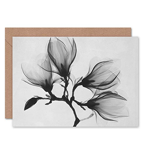 FINE ART PRINTS Magnolia Branch Xray Photo Greeting Card with Envelope Inside Premium Quality Fotografieren