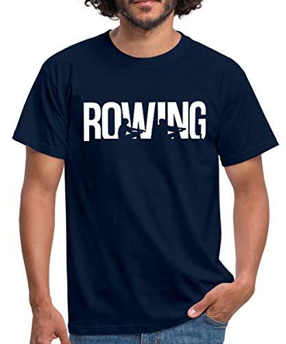 Rowing Rudern Boot Wassersport Männer T-Shirt, L, Navy
