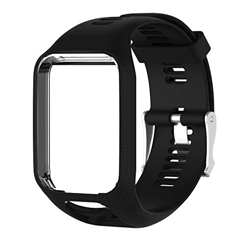 Watbro Compatible with Tomtom Spark Runner 2/3 Bands Soft Silicone Watch Replacement Band for Spark Runner 2,3/ Spark Music/Tomtom Spark 3 Cardio Smartwatches